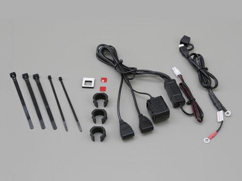 バイク専用電源 USB 2ポート シガーソケット1ポート