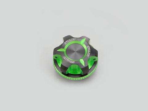 PREMIUM ZONE オイルフィラーキャップ【M27XP3.0】ライムグリーン