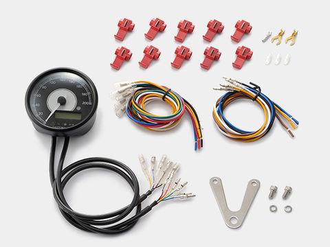 VELONA 電気式スピード&タコメーター φ80 200km/h ステンレスボディ ホワイトLED