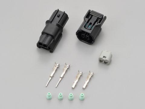 カワサキウインカーコネクターセット 2極 ブラック