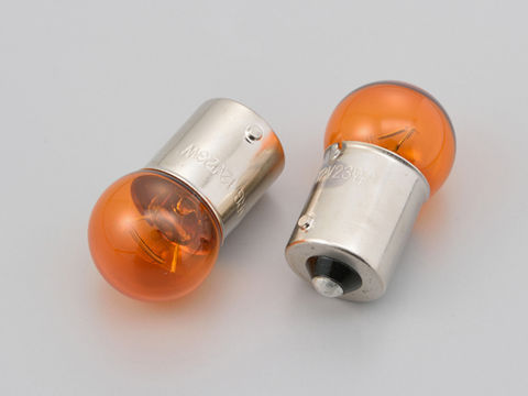ウインカーバルブ 2個セット φ18.5×35mm 12V23W オレンジ