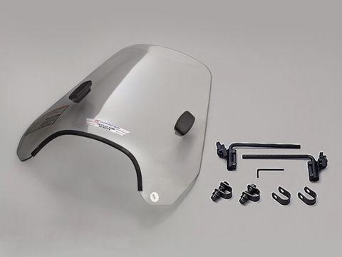 national cycle ミドルウインドシールド本体 W375mm×H380mm(板厚3.1mm)スモーク