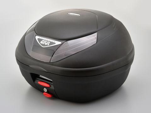 GIVI E350N2 モノロックケース(2ボタン/スモークレンズ) TECH未塗装ブラック