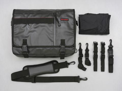 HBメッセンジャーサイドバッグ ブラック Lサイズ