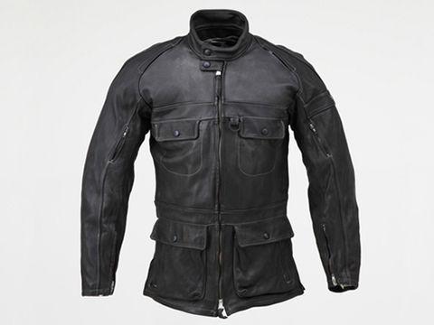 HBR001 ロングレザージャケット  ブラック