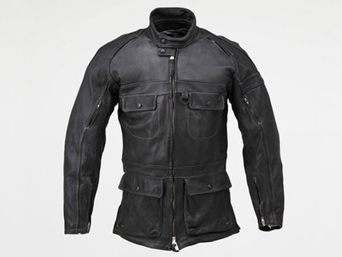 HBR002 ロングレザージャケット  ブラック