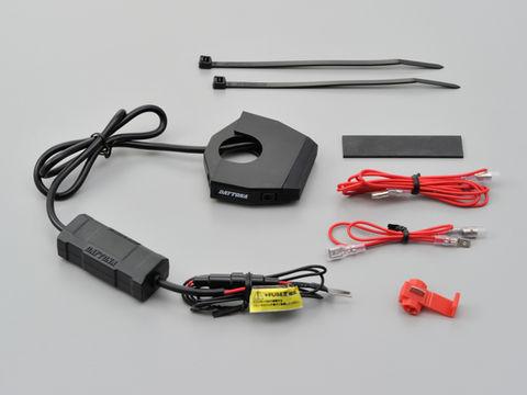 バイク専用電源 スレンダーUSB1ポート(USB 5V2.4A)