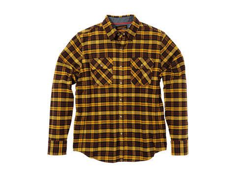 NHB1504 ネルシャツ からし