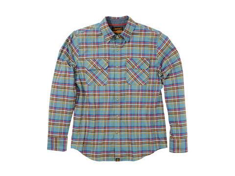 NHB1504 ネルシャツ サックスブルー