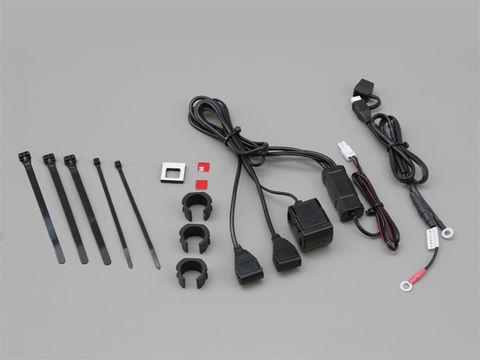 2.1バイク専用電源 USB2ポート+シガーソケット1ポート