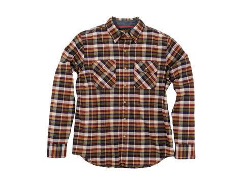 NHB1504 ネルシャツ ブラウン
