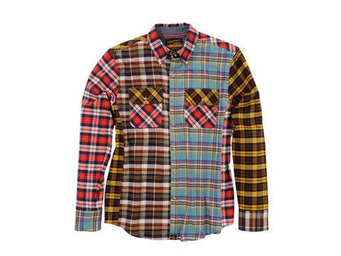 NHB1504 ネルシャツ クレイジーMIX