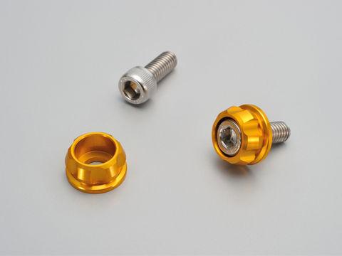 ナンバーホルダーセット M6 ゴールド