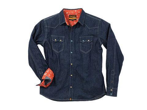 NHB1502 デニムシャツ インディゴ