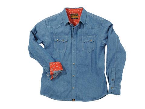 NHB1502 デニムシャツ ライトブルー