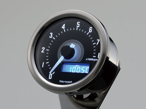 VELONA 電気式タコメーター 8000rpm バフボディー ホワイトLED