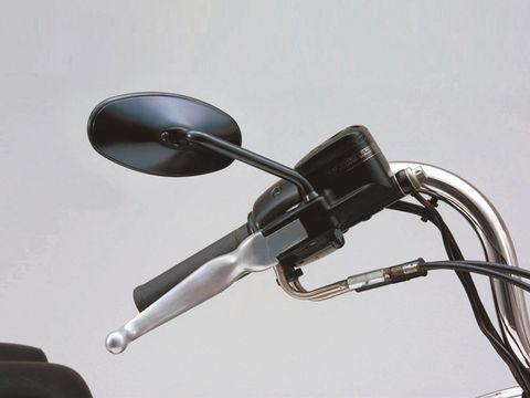 ショートステムミラー スリムライン HD用 右側 ブラック