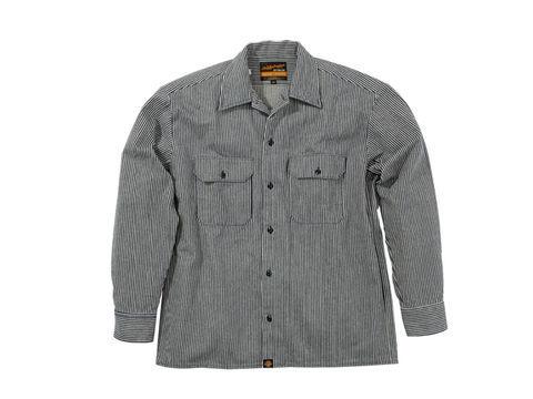NHB1503 ワークシャツ ヒッコリーブルー