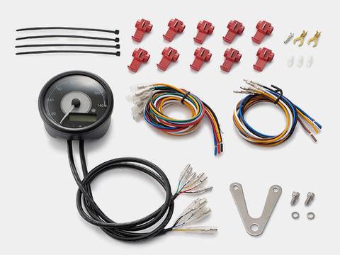 VELONA 電気式スピード&タコメーター φ80 140km/h ステンレスボディ ホワイトLED