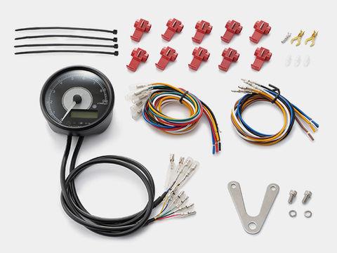 VELONA 電気式タコ&スピードメーター φ80 9000rpm ステンレスボディ ホワイトLED