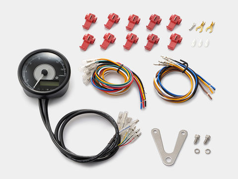 VELONA 電気式タコ&スピードメーター φ80 15000rpm ステンレスボディ ホワイトLED