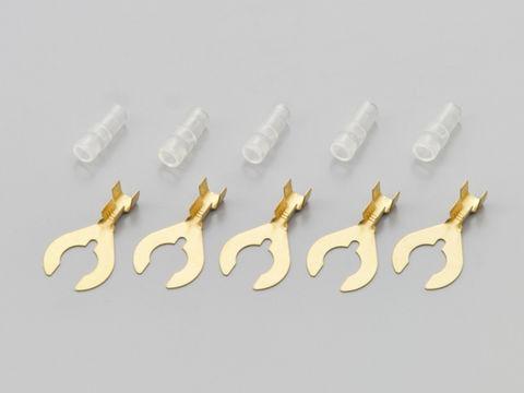 クワ型端子&スリーブ (ハンドツールかしめ用)8φ