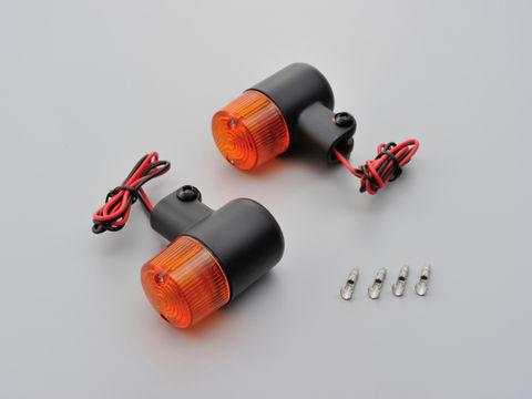 スモールウインカーセット(2個1セット) ブラックボディ/オレンジレンズ
