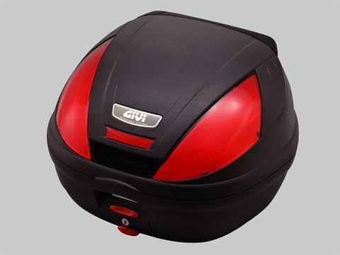 GIVI 【E370ND】未塗装ブラック バックレスト付