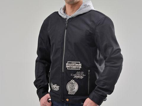 HBJ-038 メッシュジャケットパーカー ブラック