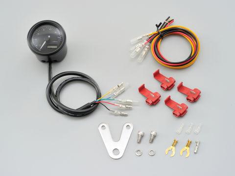 VELONA 電気式タコメーター Φ48(パルスジェネレーター無し) 15000rpm ブラックボディ 3色LED