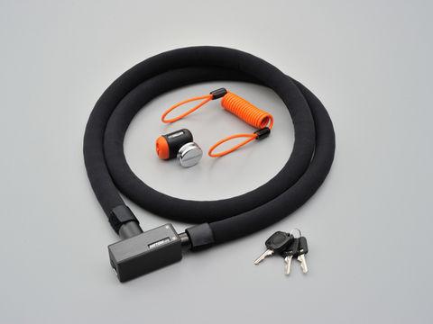 ストロンガーロック ディスクロック&スチールリンク 1800mm/ブラック