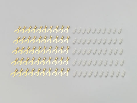クワ型端子&スリーブ (ハンドツールかしめ用) 6φ