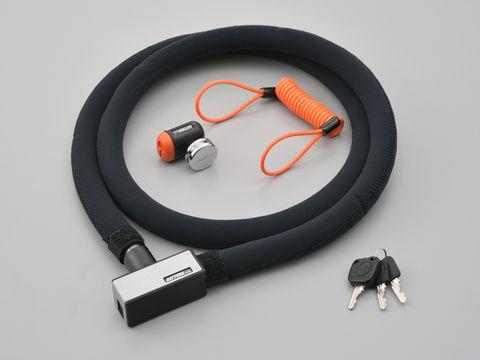 ストロンガーロック ディスクロック&ワイヤー 1800mm/シルバー