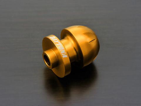 アルミビレットスイングアームスプール(BULLETタイプ) ゴールド M8用/2個入り