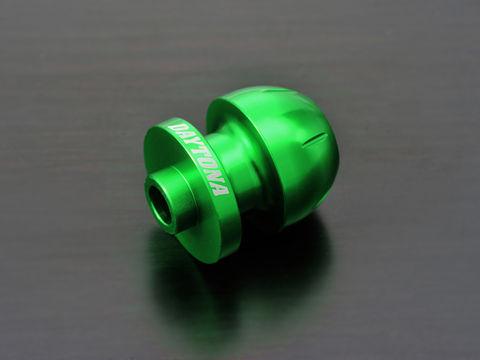 アルミビレットスイングアームスプール(BULLETタイプ) グリーン M8用/2個入り