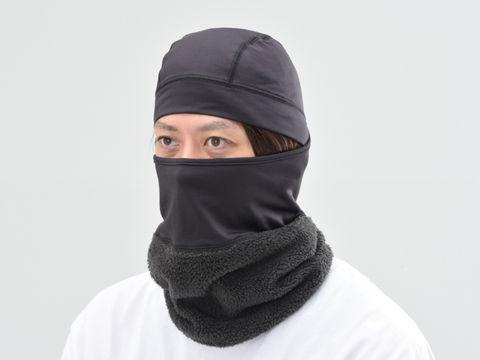 HBV-025 ボア付防風防寒フリースフルフェイスマスク