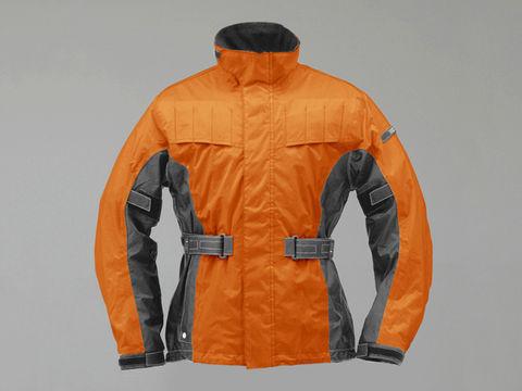 DH302 エアインテークレインスーツ オレンジ/グレー