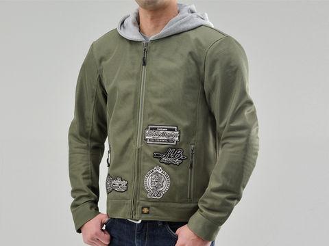 HBJ-038 メッシュジャケットパーカー カーキ