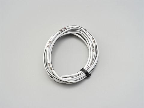 純正色ハーネス AVS0.75 (白/黒)