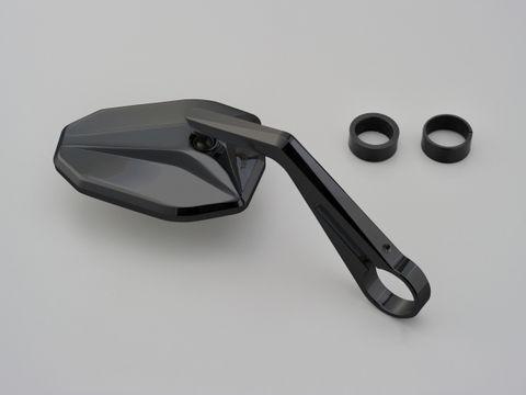 HIGHSIDER バーエンドミラー ヴィクトリー/ブラック(別売バーエンドミラーアダプター必要)