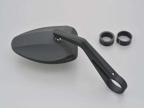 HIGHSIDER バーエンドミラー フェッララⅡ/ブラック(別売バーエンドミラーアダプター必要)