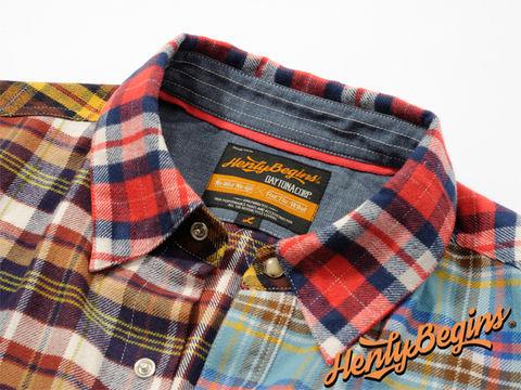 Henly Begins(ヘンリービギンズ)NHB1504 ネルシャツ